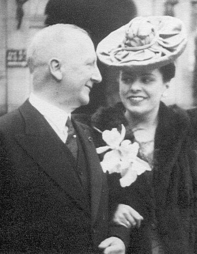 Piet Gerke met 2e echtgenote